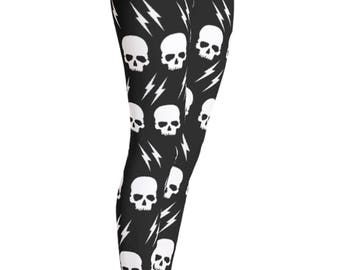 Skull Leggings - Suicide Squad - Harley Quinn - Halloween legging  -  Halloween Costume - Kids Leggings