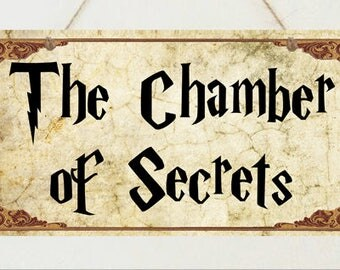 Harry Potter Sign Chamber of Secrets Plaque Gift Christmas Present