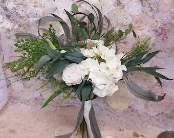 Artificial Native, Boho, cascading,  Bridal Bouquet