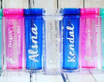 SET OF 5 Personalized Bachelorette Tumblers, Wedding Cup, Sparkle Water Cup, Personal Acrylic Tumbler, Bachelorette Party, Wedding Party