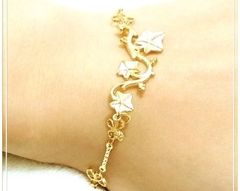 16k Gold Plated Morning Glory Bracelet