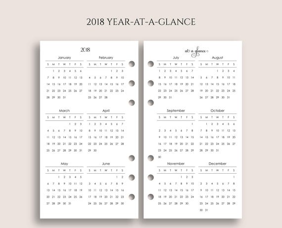 at a glance yearly calendar