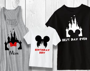 Castle with Mickey Minnie - Magic Kingdom Disney shirt