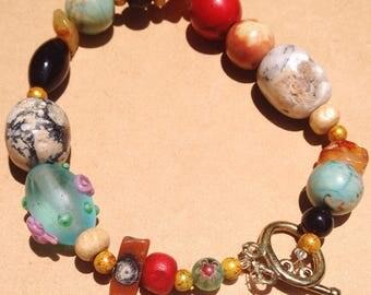 Stones and Stones Chunky Bracelet