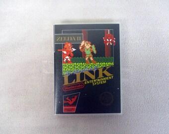 Zelda 2: The Adventure of Link black cover Custom NES/Nintendo Case Only (***NO GAME***)