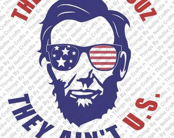 patriotic Abe Lincoln SVG