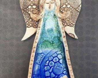 Ceramic and glass angel