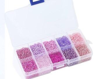 Box multicolor 2 mm Czech glass beads