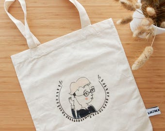 Personalized portrait on totebag, A3-A4-A5