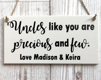 Personalised Uncle Plaque ~ Personalised Uncle Gift ~ Personalised Uncle Sign ~ Gifts For Him ~ Personalised Gifts ~ Family Wall Art