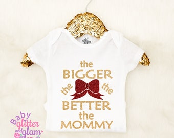 The Bigger The Bow The Better The Mommy, Baby Girls Baby Bow Shirt, Bows before Bros Shirt, Funny Baby Girl Shirt, Baby Girl Clothes Outfit