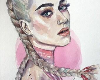Custom Watercolor Portrait from Photo, Stylized Portrait, Custom Watercolor, Personalized Watercolor Portrait by Photo, Unique Gift Idea