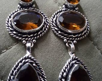 Smokey Quartz Earrings !