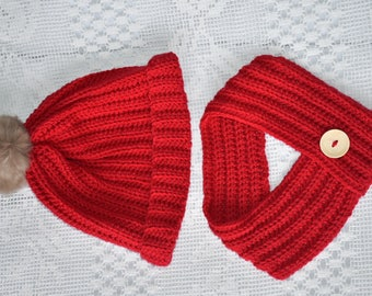 Red hat and cowl set