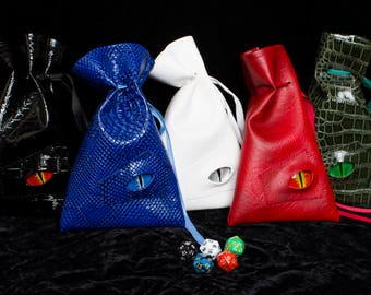 Dice bag dragon skin, D&D, Dungeons and Dragons, d20, dicebag