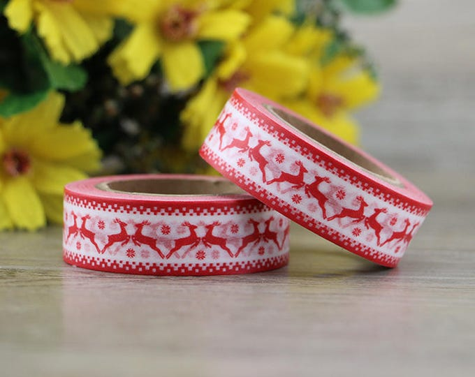 Washi Tape - Christmas Washi Tape - Nordic Deer washi Tape - Paper Tape - Planner Washi Tape - Washi - Decorative Tape - Deco Paper Tape