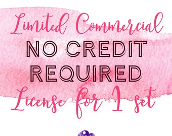 Limited Commercial NO CREDIT REQUIRED License for 1 set