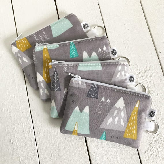 Change Purse | Mountains, Credit Card Holder,  Zipper Pouch, Cotton