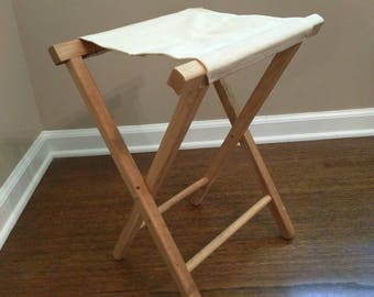 Vintage canvas camp stool