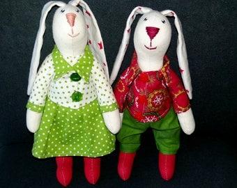 Fabric bunny / rabbit / toy / decoration