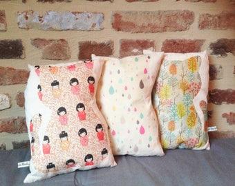 Linen cat cushion