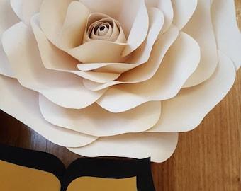 Paper Flower Medium Rose Templates PDF digital & tutorial #35