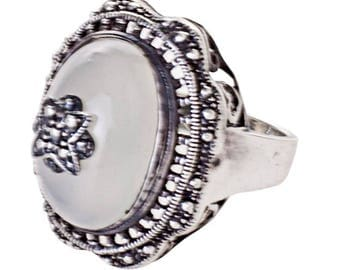 Cawdor Ring silver plated White (R15: 19)