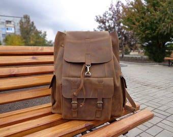 Leather backpack, travel backpack.  backpack, leather travel bag, leather rucksack, leather backpack purse, travel backpack, mens backpack