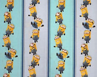 "Minions Stripe by VIP, 43-44"" wide, 100% cotton, by the half yard"