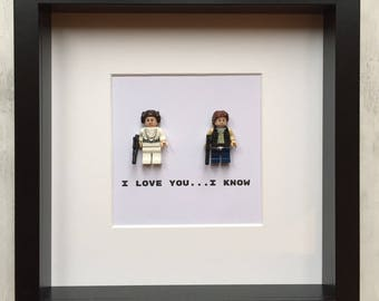 star wars, Lego Picture, Lego Han and Leia, Star Wars Gift, Star Wars picture, Star wars I love you