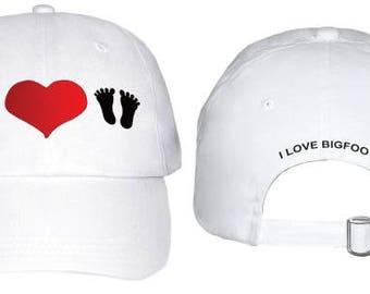 I Love Bigfoot  Hat