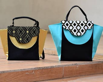 Trendy Trapeze shoulder bag sewing pattern