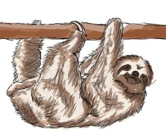 Inktober #30 2017 - Sloth [PRINT]