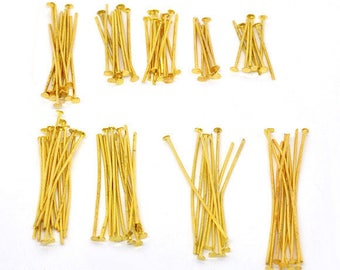 900 stems flat heads Gold 1.6 to 4 cm