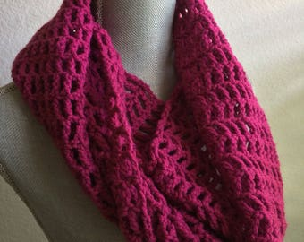 Mulberry Twisted Infinity Scarf