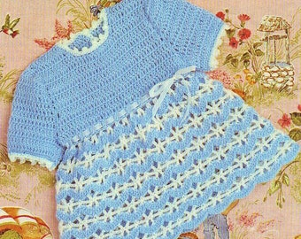 Baby Dress, Crochet Pattern. PDF Instant Download.
