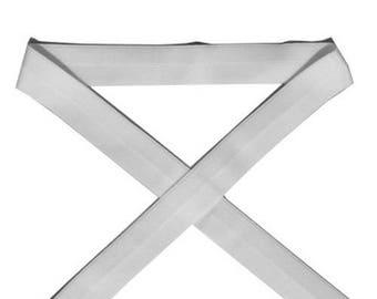 Through elastic 2.5 cm / white (1 m)