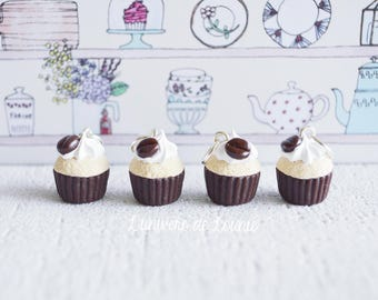 4 stitch markers knitting Cupcake coffee