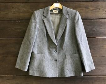 Vintage 90s Wool Blazer