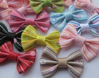 10 bow tie applique 35x25mm grosgrain Ribbon