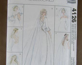 McCall's pattern 4126 A variety of bridal veils