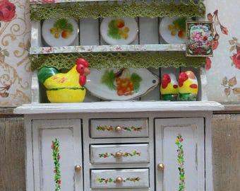 Cupboard 1:12 white broken dolls house kitchen accessories