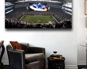 Dallas Cowboys AT&T Stadium Canvas Print Panoramic view 36 x 20 Choose Size