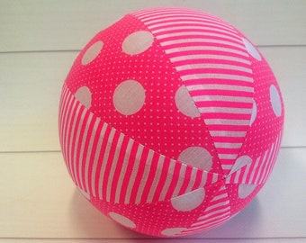 Balloon Ball Baby, Balloon Cover, Balloon Ball, Ball, Kids, Pink Stripes Dots, Portable Ball, Travel Toy, Travel, Eumundi Kids, Eumundi