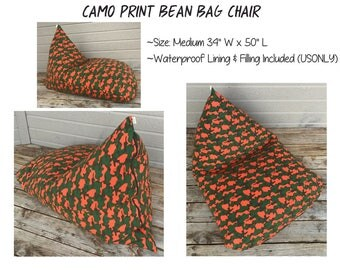Bean Bag Chair-Dorm Room Furniture - Bean Bag Cover-Adult Bean Bag-Teen/Child Bean Bag-Gaming Lounger-Oversize Bean Bag-Kids Bean Bag