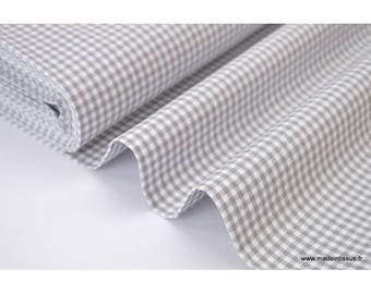 Gingham checkered 100% cotton gray x50cm