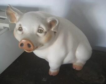 Lifelike Ceramic Pig