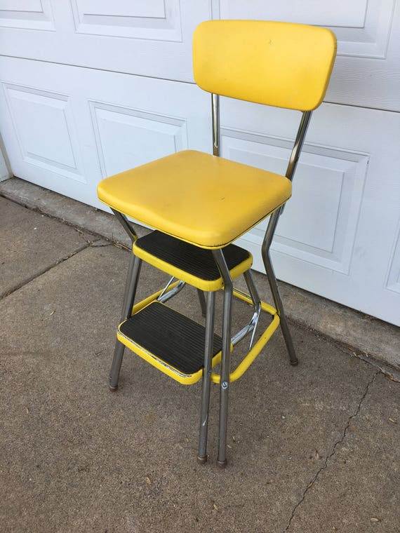 Retro Yellow Cosco Step Stool