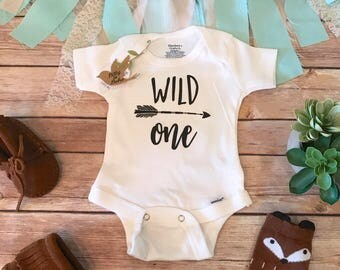 First Birthday Boy, Wild One Onesie®, Boho Baby Clothes, Cute Baby Clothes, Birthday TShirt, 1st Birthday Bodysuit,  Wild One Birthday Shirt
