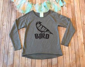 Mama Bird Shirt, Mom Shirt, Gifts for Her, Mom Birthday Gift, Mama Shirt, French Terry Sweatshirt, Gray Shirt, Gray Sweatshirt,Comfy Sweater